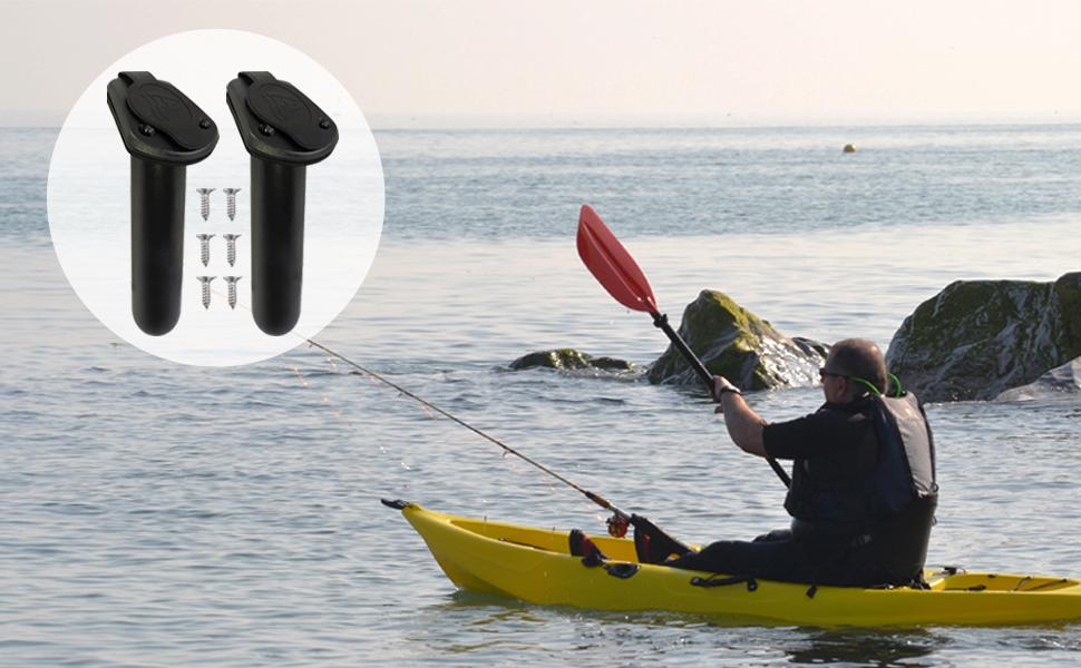 2 Cap and Gaskets for Flush Mount Rod Holders Fishing Kayak Canoe