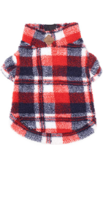 The Worthy Dog Red/Navy Plaid Quarter Zip Pullover