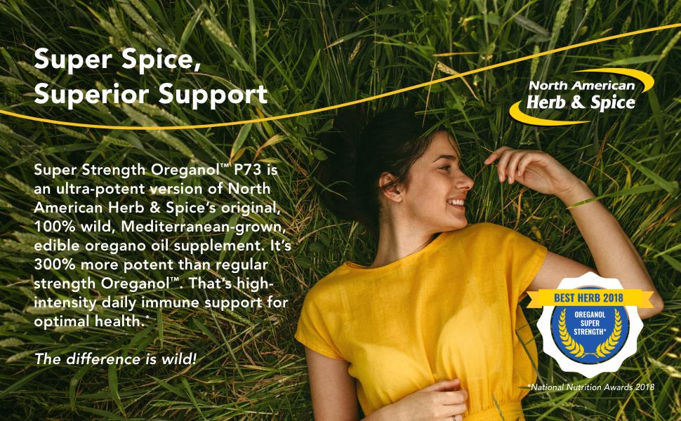 North American Herb Spice Super Strength Oreganol P73 1 Fl Oz Immune Support Wild Mediterranean Oregano Oil Non Gmo Certified Organic 432 Total Servings Health Personal Care