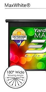 Yard master manual series pull down projector screen