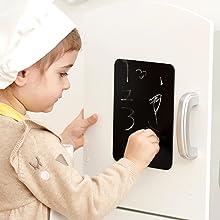 wooden play kitchen chalkboard imagine write create play learning development