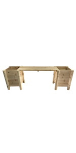 Boldly Growing Raised Garden Planter box with legs wood raised bed