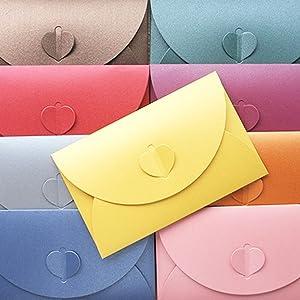 Perlglanzpapier Umschlag,Candy-Farben-Umschlag,Kreative retro niedlichen herzförmigen Umschlag