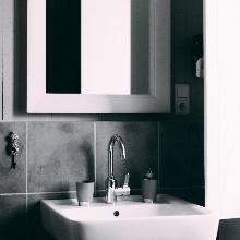 鏡、ガラス、洗面台