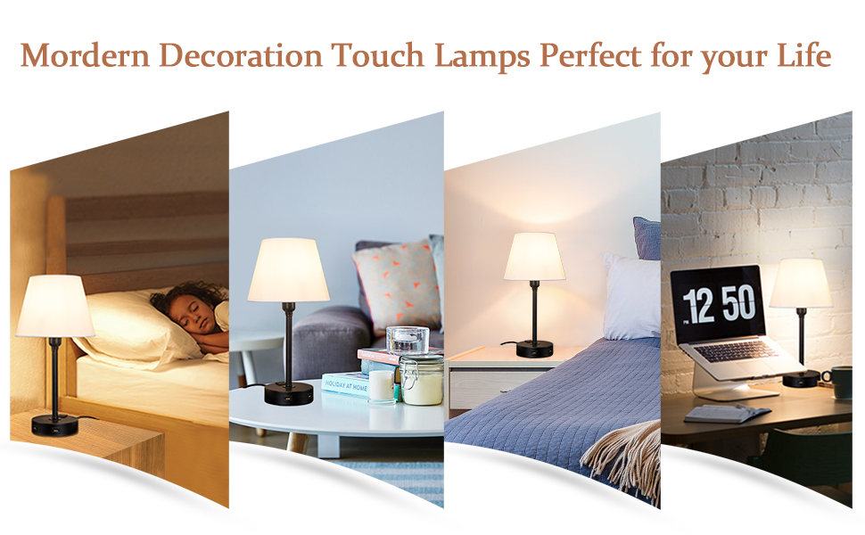 Touch Control Table Lamp for bedroom
