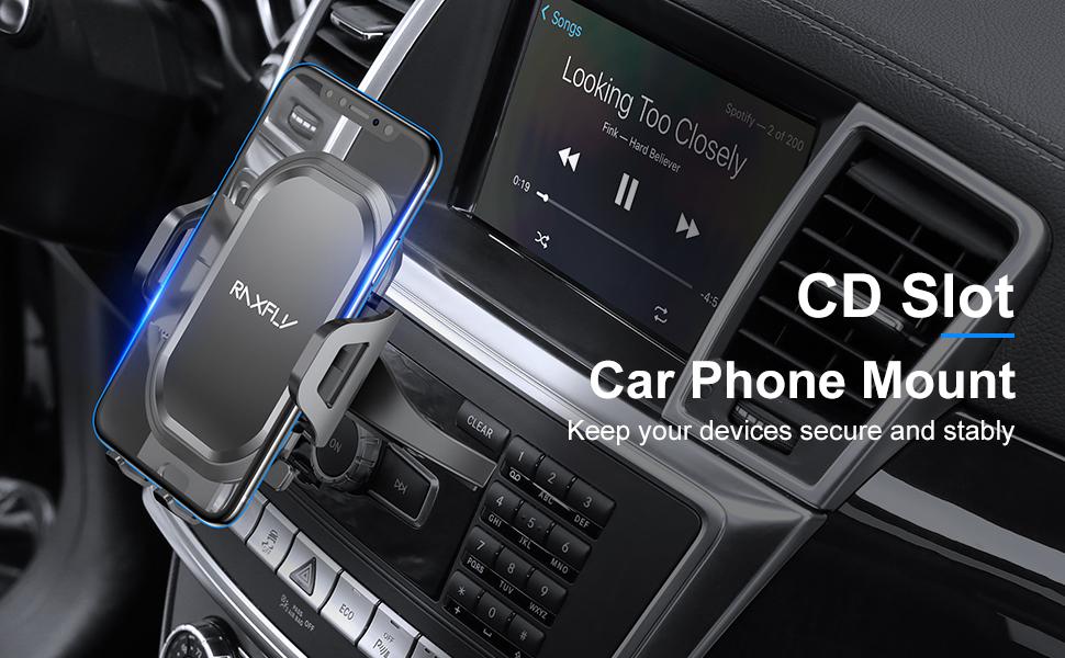 cd phone mount