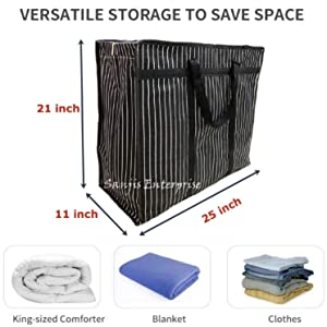 Bag for Beddings, Comforters, Blankets, Pillows, Quilts Storage Container, Garage Grocery StorageBag
