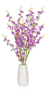 Purple Flowers with Vase