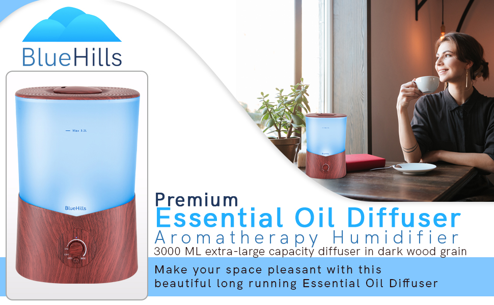 Premium essential oil diffuser extra-large 1 Liter diffuser for your home office living room bedroom