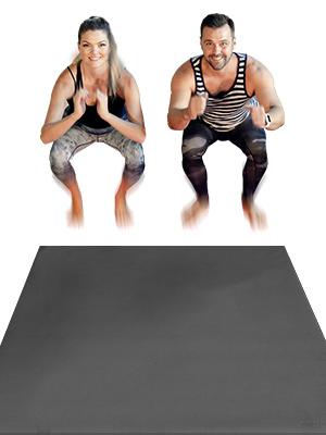 Jump squat exercise mat