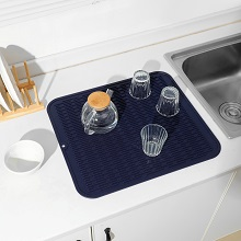 blue silicone dish drying mat l