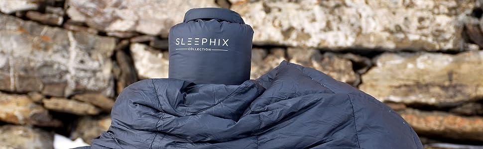 sleephi sleephix climabalance lightweight camping blanket down fill nylon water repellent