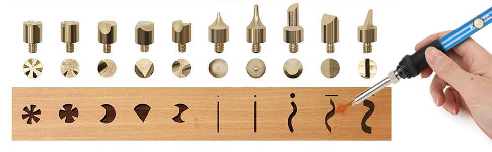 46pcs Wood Burning Kit,Professional Pyrography Pen Set with