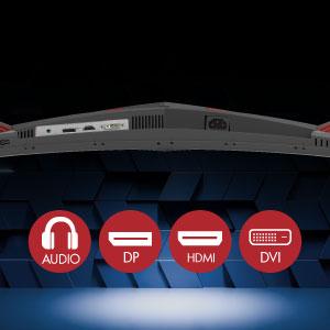 Múltiples puertos de fácil acceso ofrecen infinitas opciones de conectividad, ¡incluido un conector para auriculares!