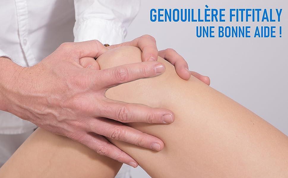 Une visite chez un spécialiste peut recommander l'utilisation du tuteur pour genou FitFitaly