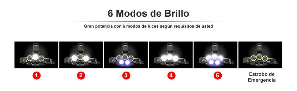 6 modos de brillos