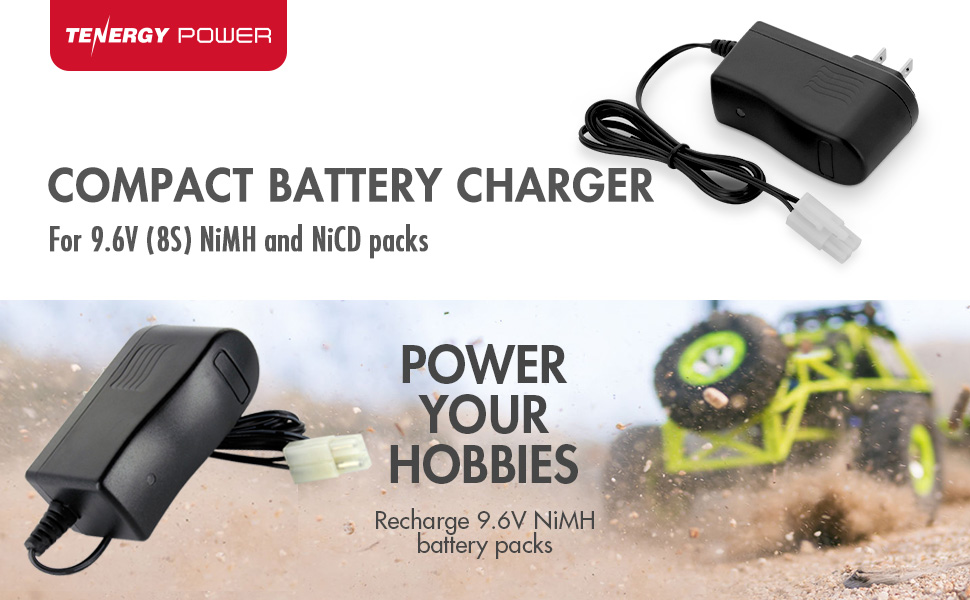 Compact battery charger for radio controlled cars and RC hobbies