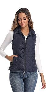 blue vest for women