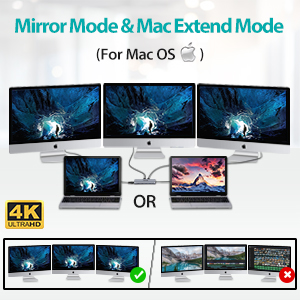 triple display for OS laptop