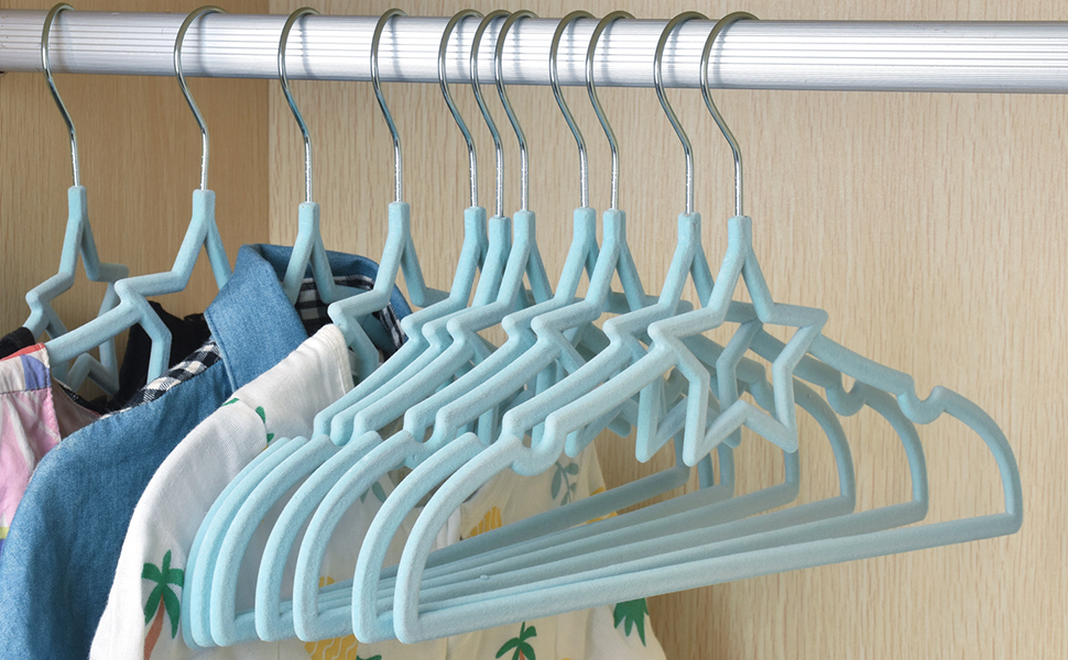 ManGotree Velvet Baby Clothes Hanger Children/'s Coat Hanger Kids Clothes Hanger with Notched Shoulder and Non Slip Design for Newborn to Toddler Clothes 15 Pack, Gray Star-Shaped