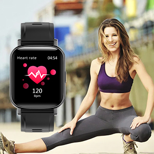 smart watch iphone compatible  RUNDOING Smart Watch for Men Women,1.54″ Fitness Tracker iP68 Waterproof Watch with Heart Rate Monitor, Calorie Counter,Pedometer Smartwatch Compatible for Android Phones iPhone 611bef82 ae0b 4804 88fa b3f402f43ec0