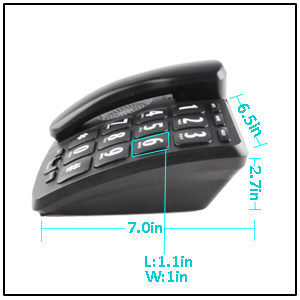 large keypad and volume corded phone for elderly to use