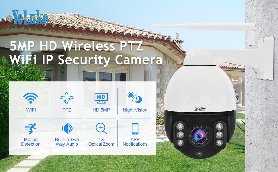 HD Wifi PTZ Security Camera