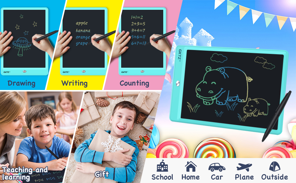 writing tablet blue