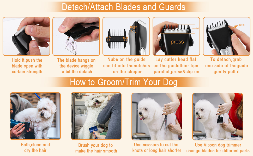 Dog Trimmer Clippers Cordless