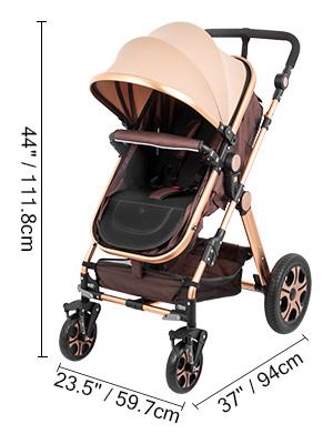 8 - VEVOR Baby Stroller 2 In 1 Stroller Bassinet Stroller Foldable Anti-Shock Newborn Stroller Baby Carriage Stroller Luxury Baby Trend Stroller Stroller For Baby Pram Stroller