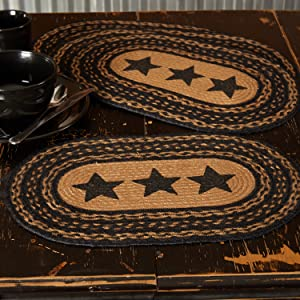 Farmhouse Jute Placemat primitive country rustic Americana VHC Brands braided kitchen tabletop