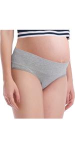 Intimate Portal Femme Multi-Styles Bikini Slips de Maternit/é et Culottes de Grossesse Pliables Slips en Coton