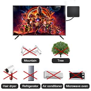 2021 Más Nuevo Antena Interior TV,240KM Alcance con Amplificador de Señal Antena de TV Digital HD para Interiores,Gratuita con Cable Coaxial de 5M, 4K ...