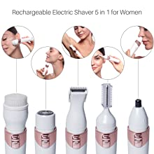 rechargeable electric shaver for women