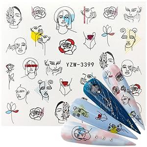 white,nail Adhesive Stickers,Nail Striping Tape Lines,nail decals,nail glitter,nail diy,nails