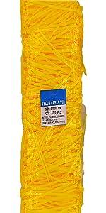 4 inch yellow zip ties
