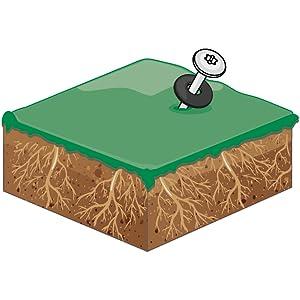 Zeltschraube für stark durchwurzelte Böden.