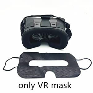 Black color  100 Pack Sanitary VR Mask Disposable Face Cover Mask Hygiene VR Pads Prevent Eye Infections for HTC Vive, PS VR, Gear VR Oculus Rift, etc. (White) 613c2a75 3d7e 4483 96aa 2cdf507e390d