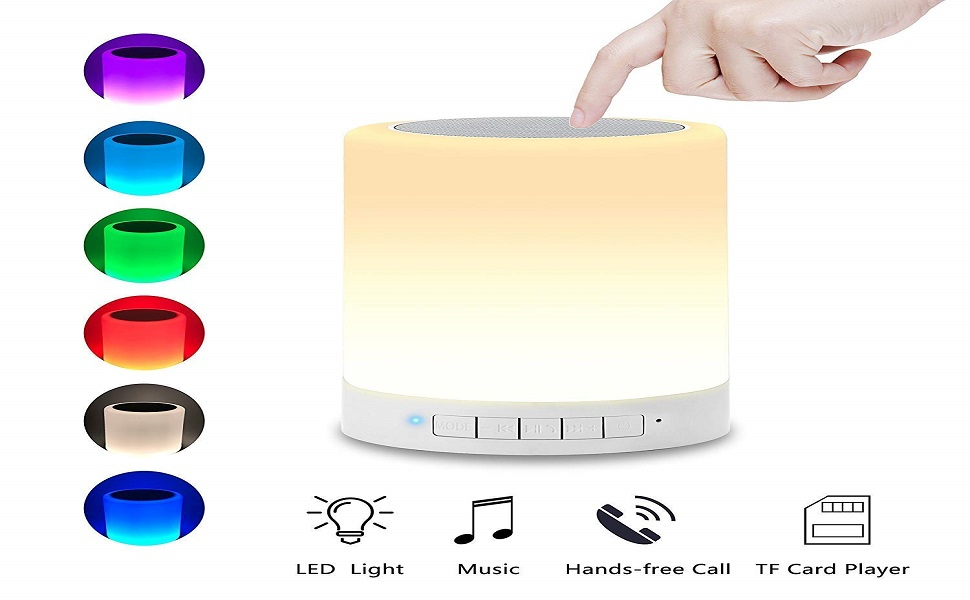 LED Cool Touch Lamp Bluetooth Speaker