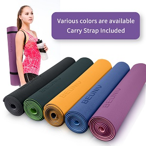 yoga mat with colors