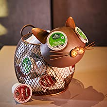 Cat Table Organier, Storage, for holding coffee pods, corks, candies, ect.