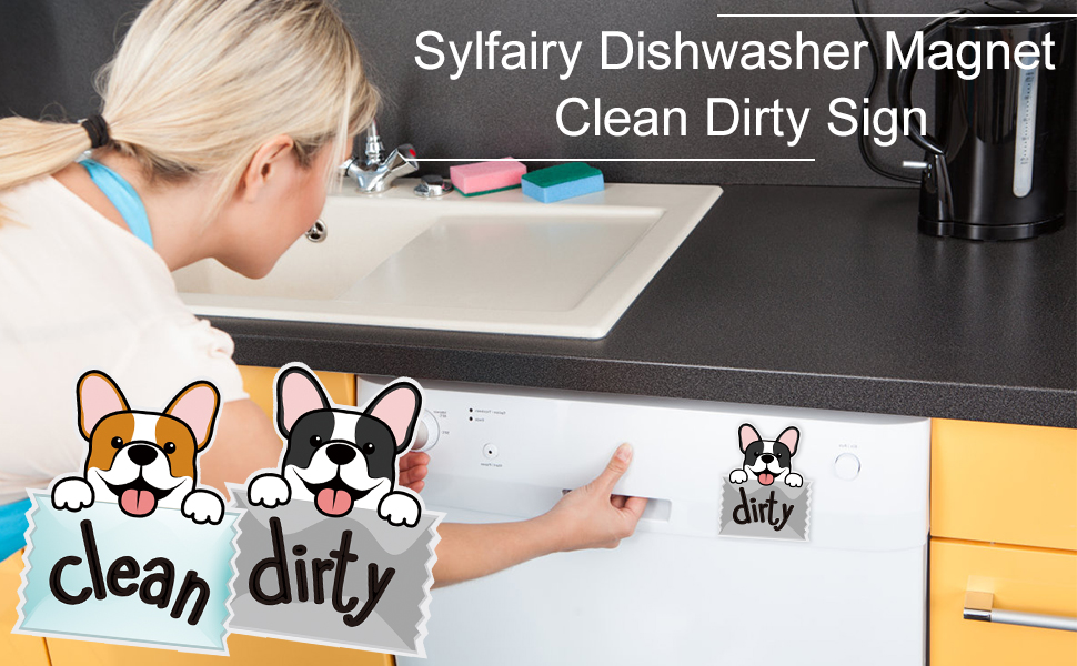 dishwasher magnet clean dirty sign
