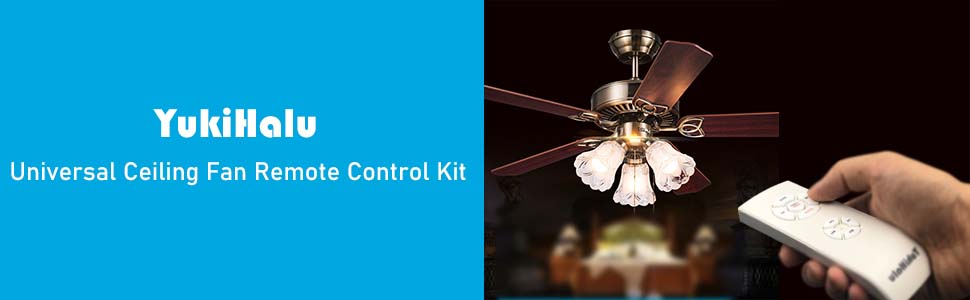 Wireless Remote Control and Receiver for Hunter Harbor Breeze Westinghouse Honeywell and Other Ceiling Fan Lamp YUKIHALU Natural Wind Universal Ceiling Fan Remote Control kit with Light and Timing
