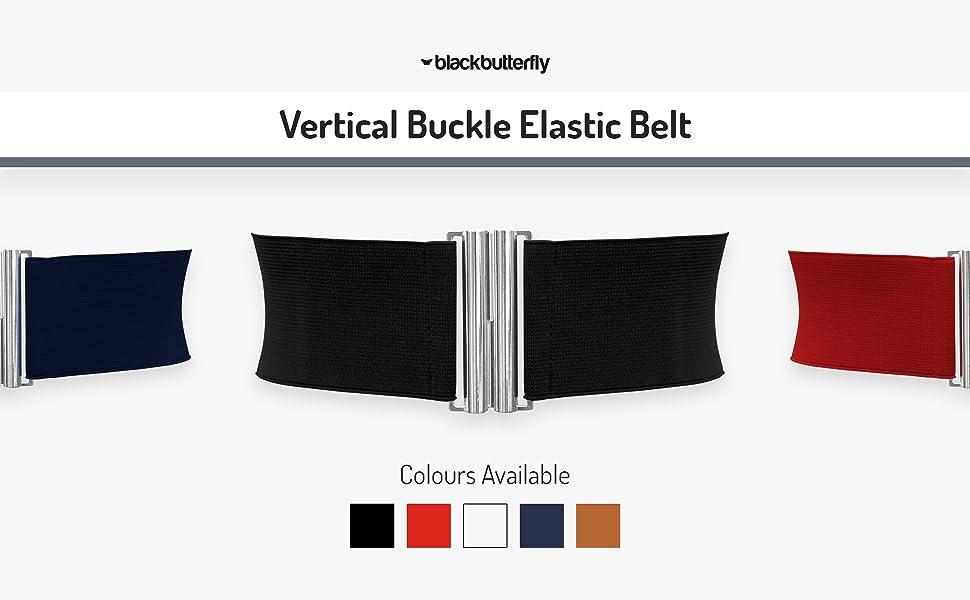 Vertical Buckle Elastic Belt