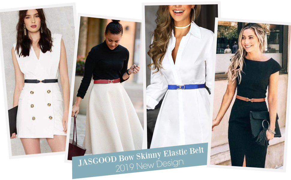 Bow Skinny Elastic Waist Belt