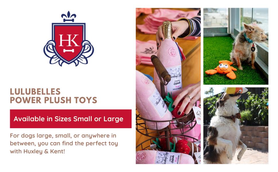 huxley and kent lulubelles power plush dog toys small large