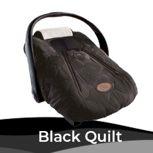 Cozy Cover Black Quilt, Infant Carrier Cover