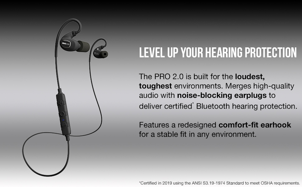 IP67 durability protection professional bluetooth earphones bluetooth comfort earplugs blocking ear