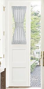 linen look semi-sheer door curtain