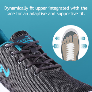 Dynamically Fit Upper Integrated With Lace For An Adaptive And Supportive